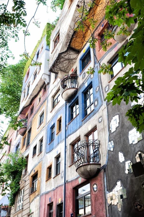Camera di Hundertwasser a Vienna, Austria fotografia stock libera da diritti