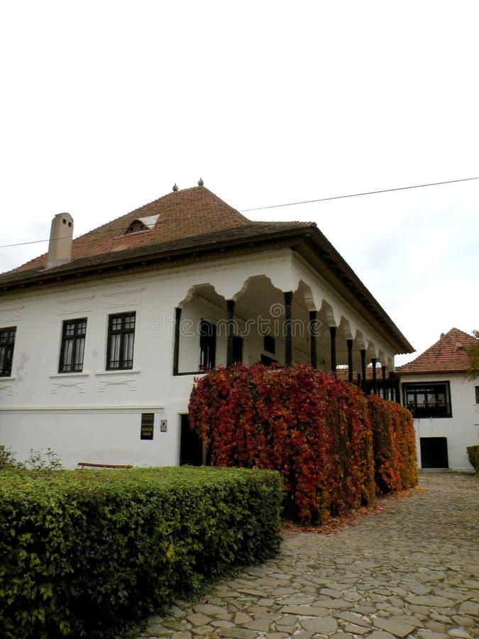Camera di Nicolae Iorga, Valenii de Munte, Romania immagine stock