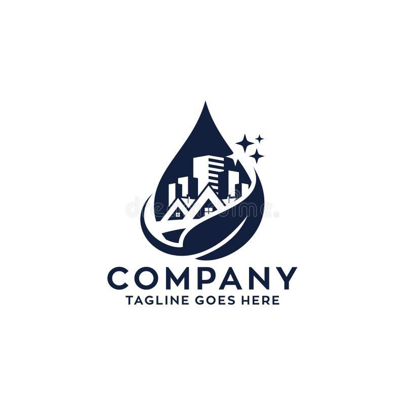 Camera di pulizia del Logo Design illustrazione di stock