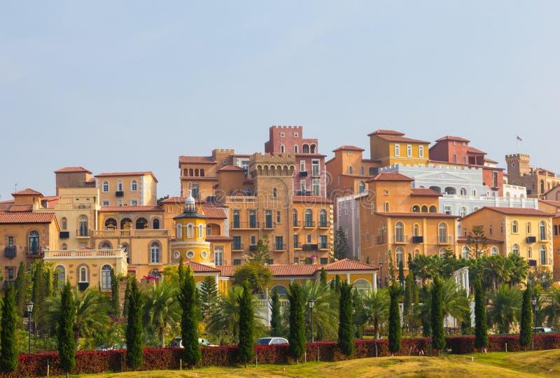 Camera di stile della Toscana Italia sulla collina immagine stock