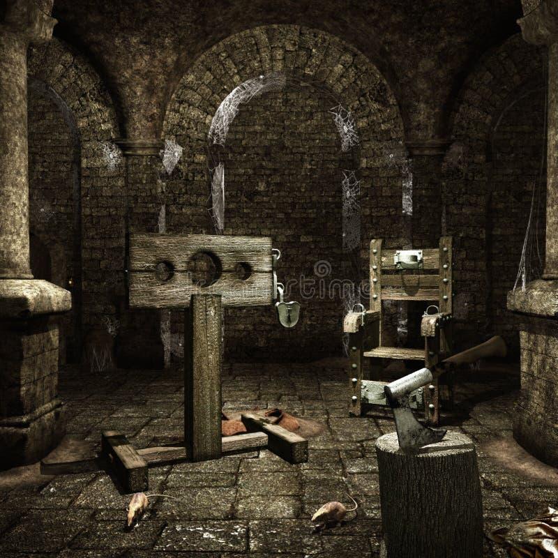 Camera di tortura medievale illustrazione vettoriale
