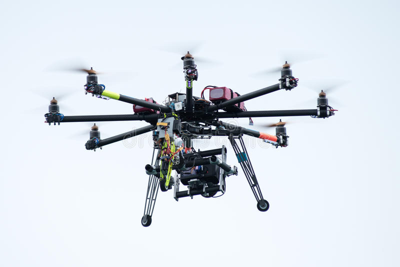 Camera drone royalty free stock photography