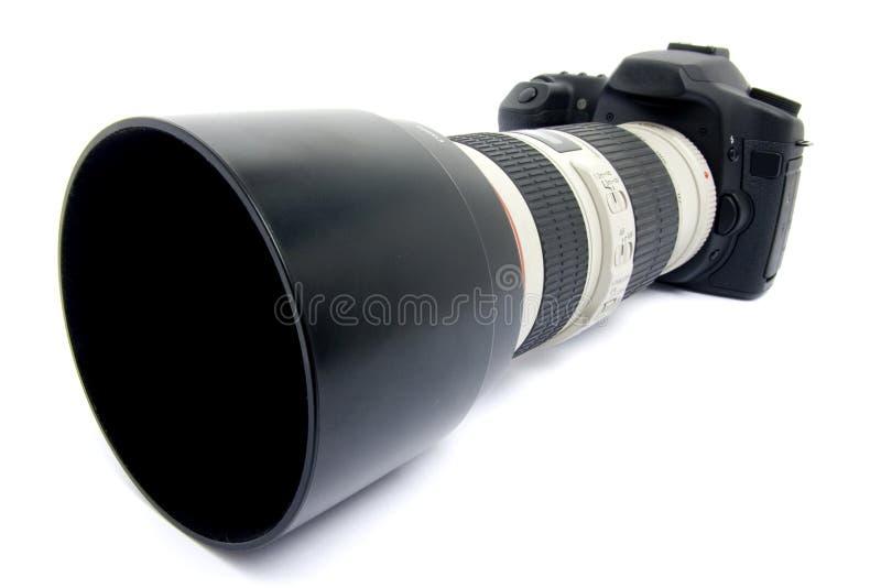Download Camera DSLR met zoomlens. stock afbeelding. Afbeelding bestaande uit wijd - 10781149