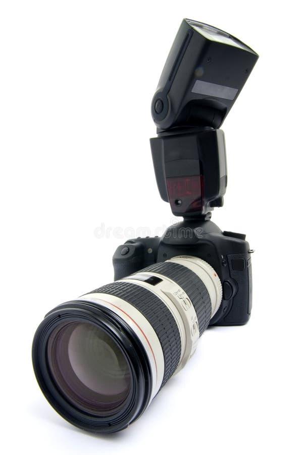 Download Camera DSLR met zoomlens. stock foto. Afbeelding bestaande uit zwart - 10781188