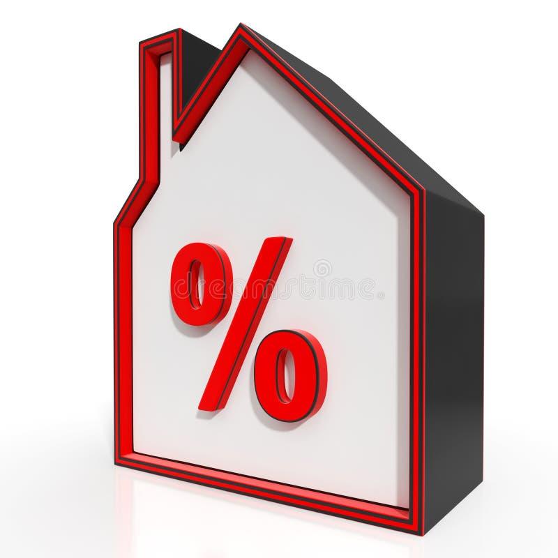 Camera ed investimento o sconto delle esposizioni del segno di percentuali illustrazione di stock