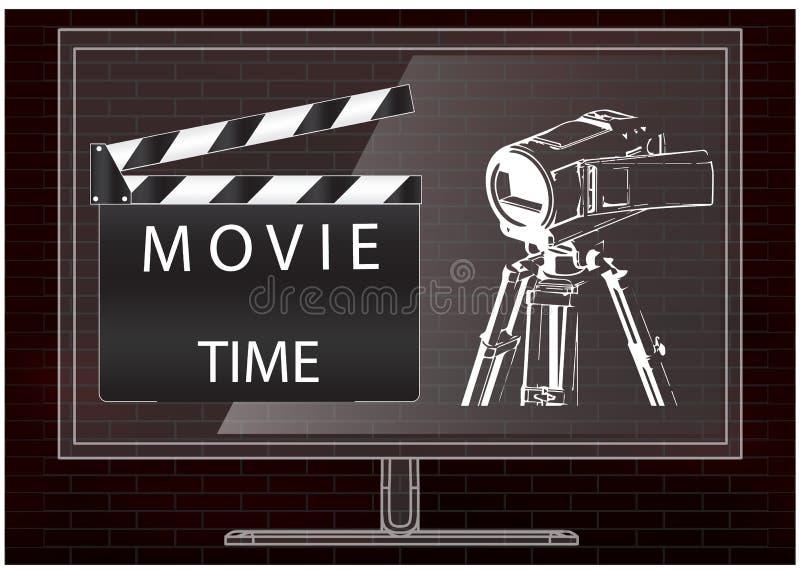 Camera en film clapperboard vector illustratie