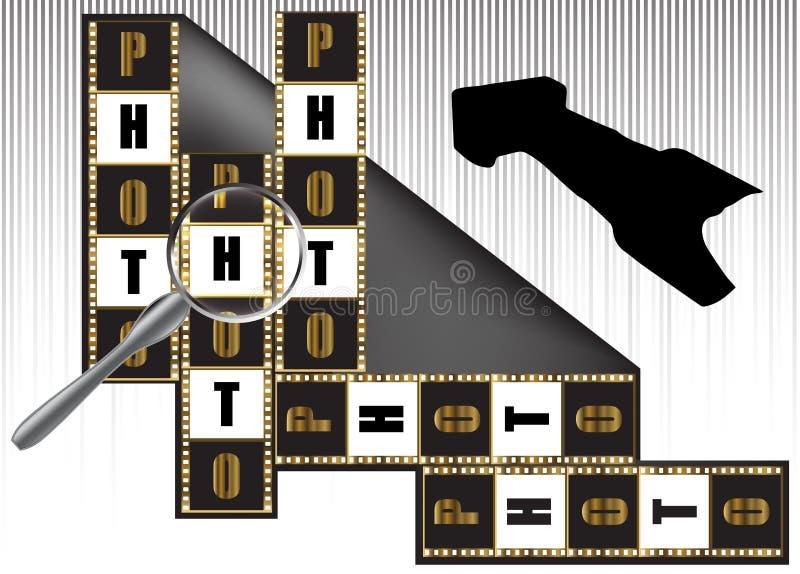 Camera en fotografische film royalty-vrije illustratie