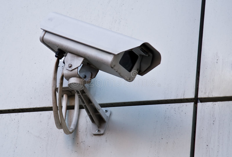 Camera of external supervision royalty free stock images