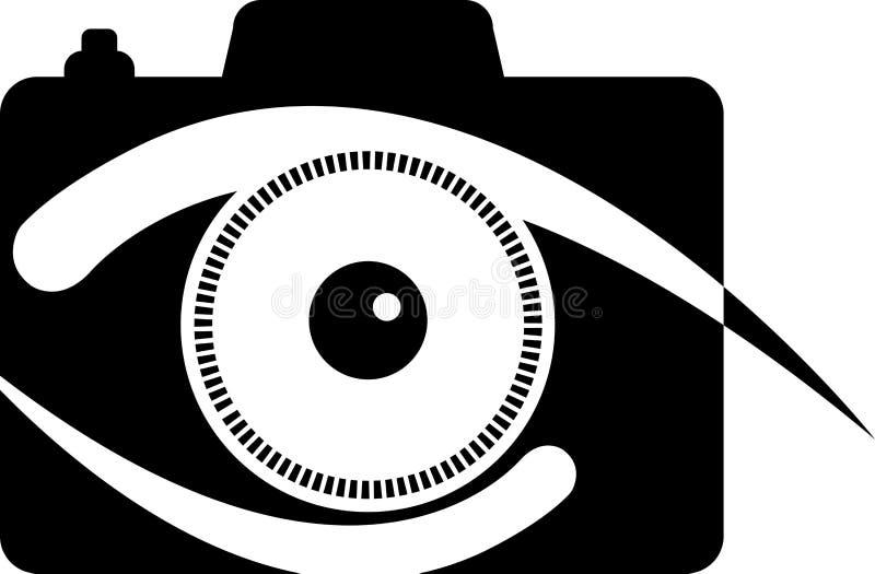Camera eye logo. Illustration art of a camera eye logo with isolated background