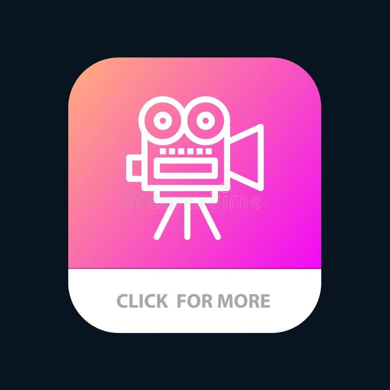 Camera, Film, Film, de Knoop van de Onderwijsmobiele toepassing Android en IOS Lijnversie royalty-vrije illustratie