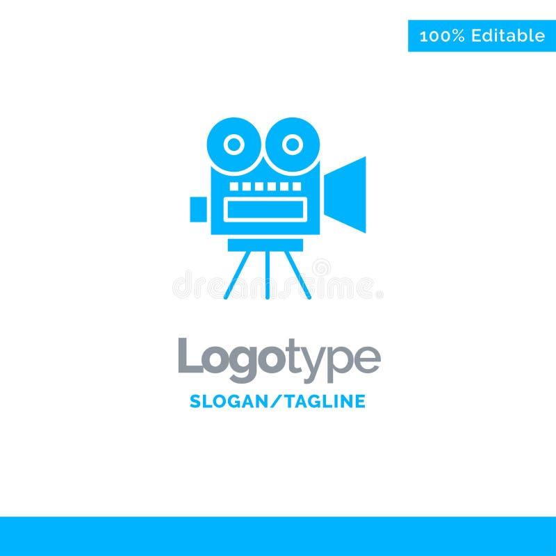 Camera, Film, Film, Onderwijs Blauwe Zaken Logo Template vector illustratie