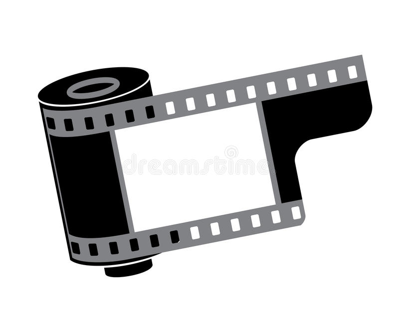 Camera film roll royalty free illustration