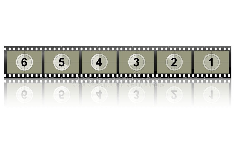Camera Film Strip. Image of a camera/video film strip stock illustration