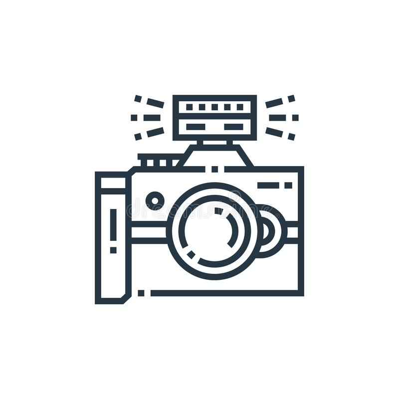 Free Camera Flash Icon Vector From Photography Concept. Thin Line Illustration Of Camera Flash Editable Stroke. Camera Flash Linear Royalty Free Stock Image - 192172296
