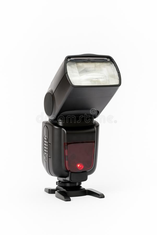 Camera flash isolated on white royalty free stock photography