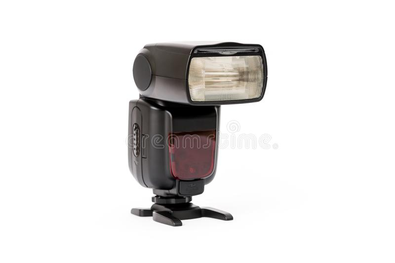Camera flash isolated on white royalty free stock images
