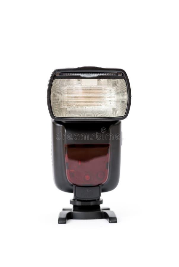 Camera flash isolated on white royalty free stock photo