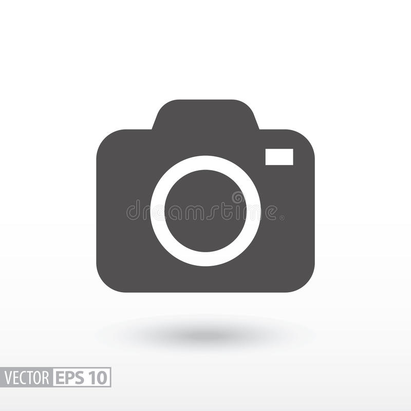 Camera - flat icon. Camera flat icon. Sign Camera. Vector logo for web design, mobile and infographics. Vector illustration eps10. Isolated on white background royalty free illustration
