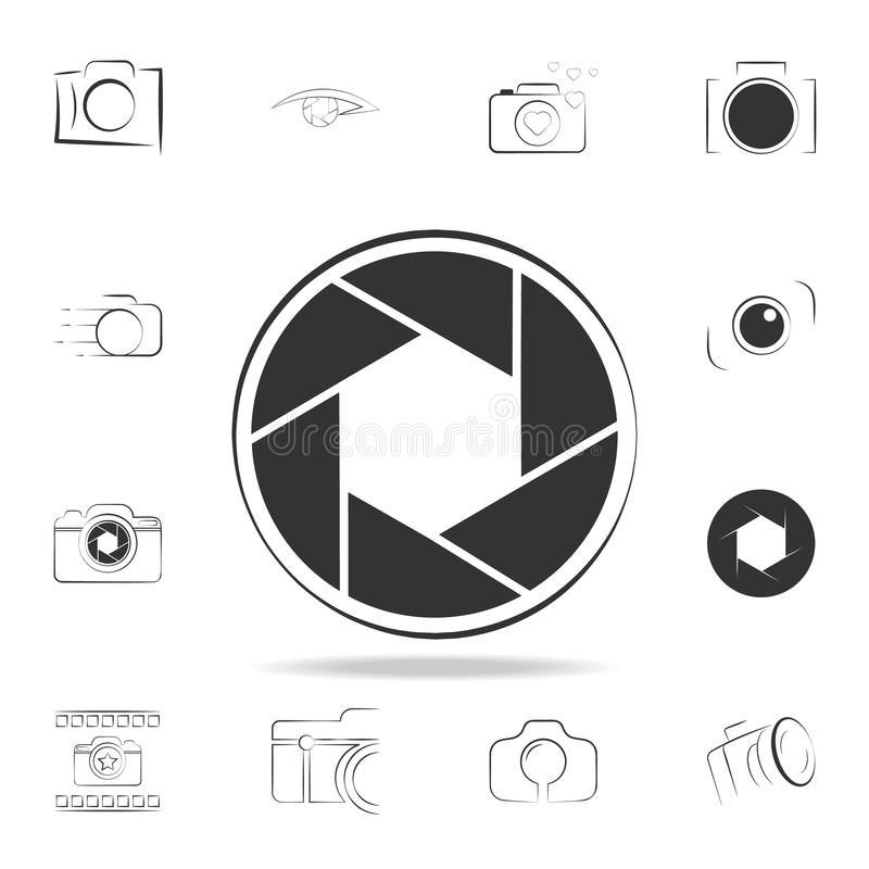 camera focus icon. Detailed set of photo camera icons. Premium graphic design. One of the collection icons for websites, web desig royalty free illustration