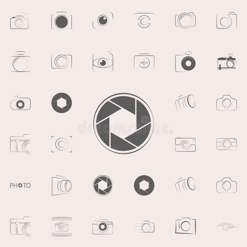 camera focus icon. Photo icons universal set for web and mobile vector illustration