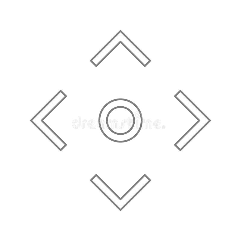camera focus line icon. Element of cyber security for mobile concept and web apps icon. Thin line icon for website design and vector illustration