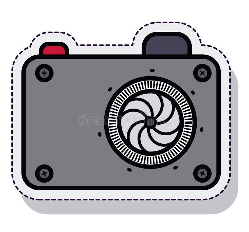 Camera fotografisch geïsoleerd pictogram vector illustratie