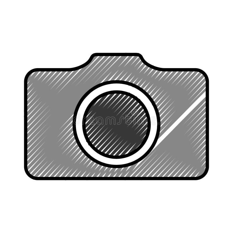 Camera fotografisch geïsoleerd pictogram stock illustratie