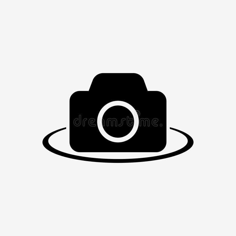 Camera-fotografisch materiaal 360-graad mening Vector illustratie royalty-vrije illustratie