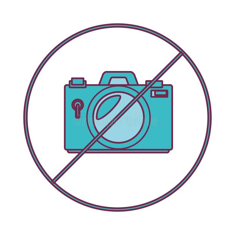Camera fotografisch ontkend geïsoleerd pictogram royalty-vrije illustratie