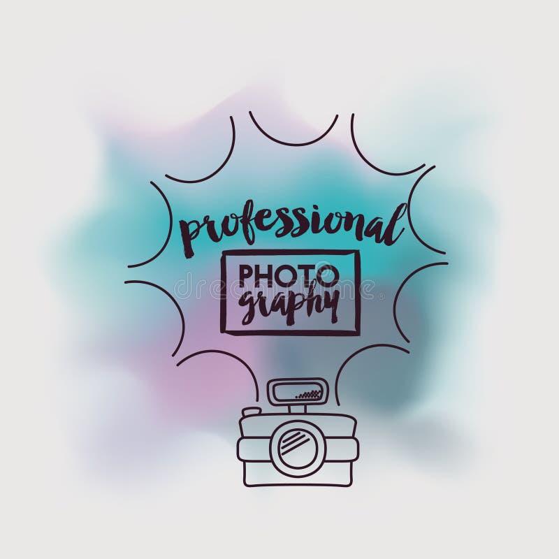 Camera fotografisch ontwerp stock illustratie