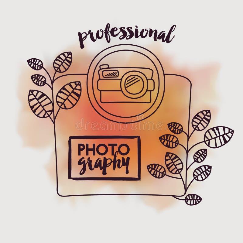 Camera fotografisch ontwerp royalty-vrije illustratie