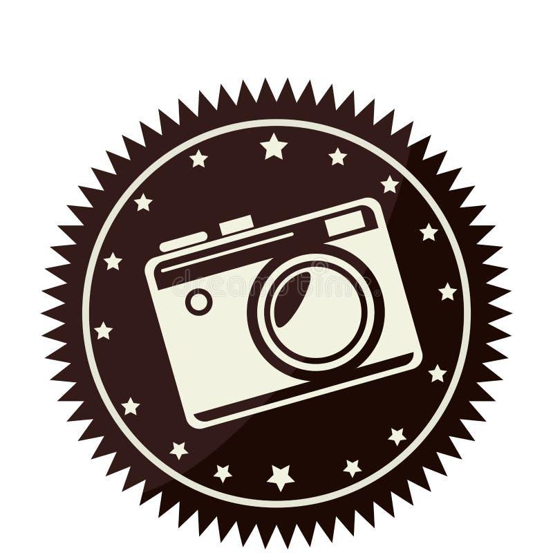 camera fotografische retro stijl stock illustratie