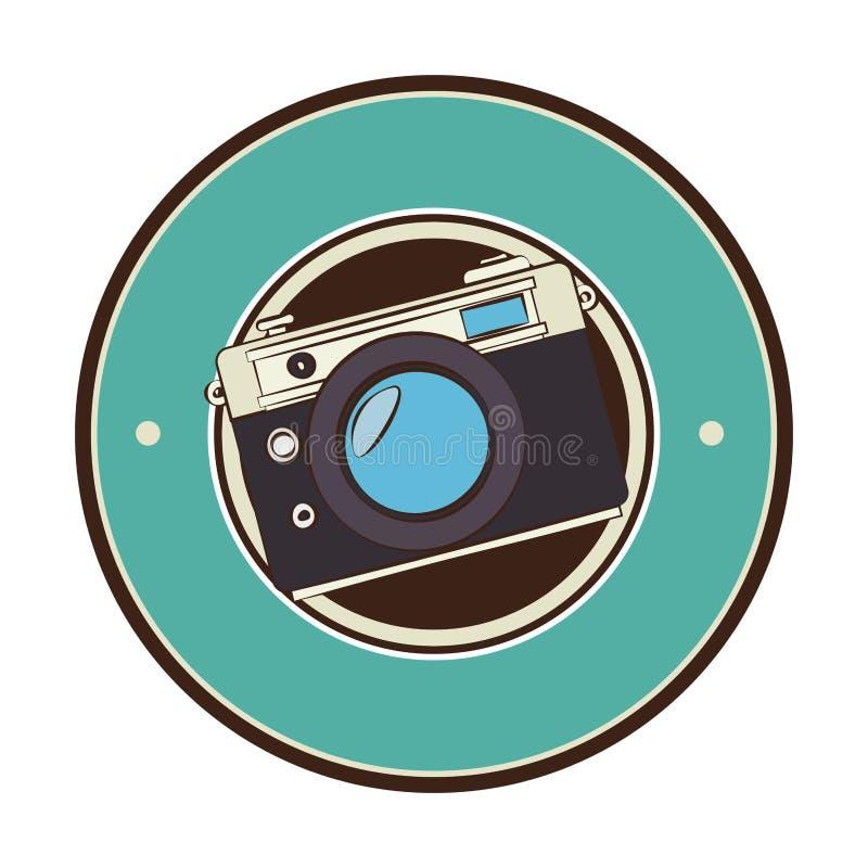 camera fotografische retro stijl royalty-vrije illustratie