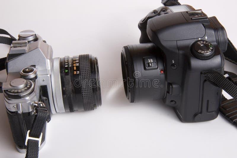 Camera gezicht-weg stock afbeelding