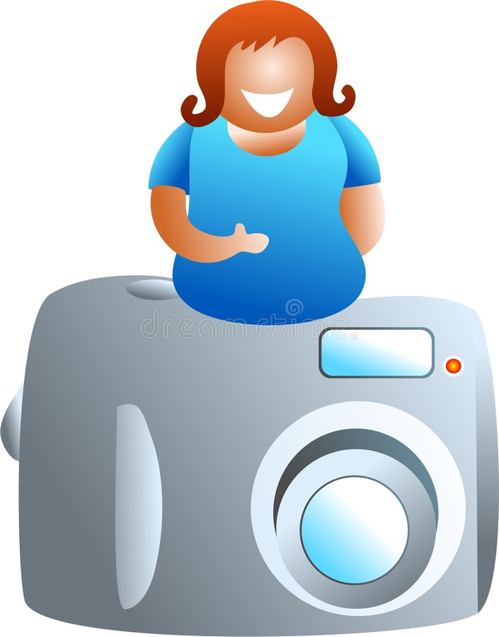Download Camera girl stock illustration. Image of life, photography - 519917