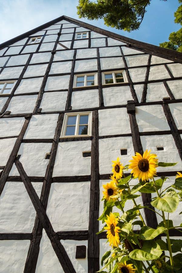 Camera a graticcio in Quedlinburg Germania immagine stock