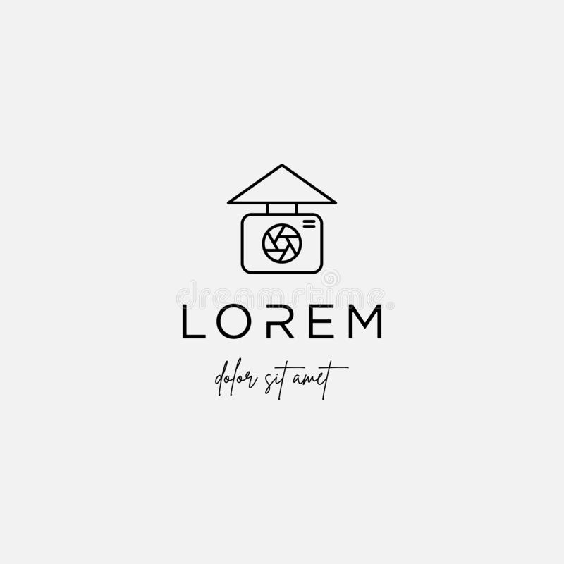 Camera Home Logo Template Vector Icon Design. Camera Home Logo Template Vector Design, house, photography, icon, business, illustration, estate, real, creative royalty free illustration