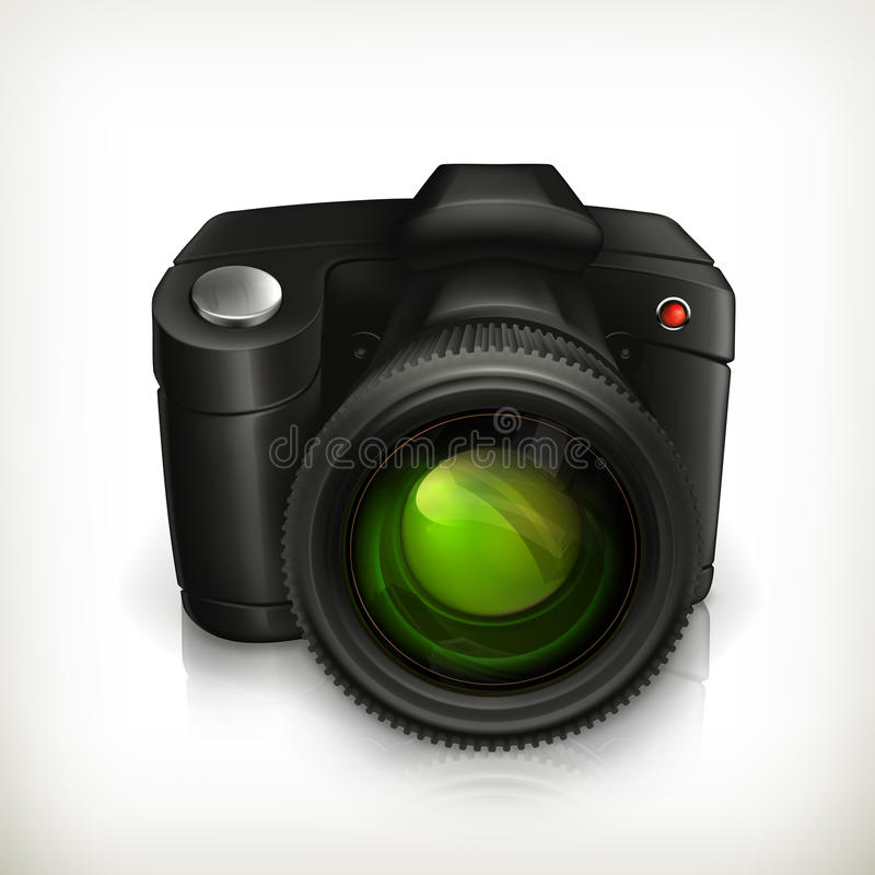 Camera icon royalty free illustration
