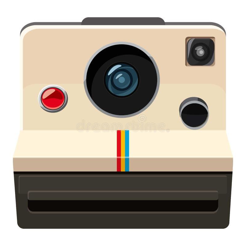 Camera icon, cartoon style royalty free illustration