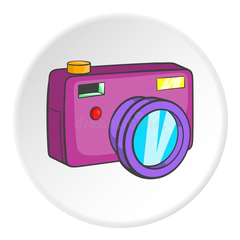 Camera icon, cartoon style vector illustration