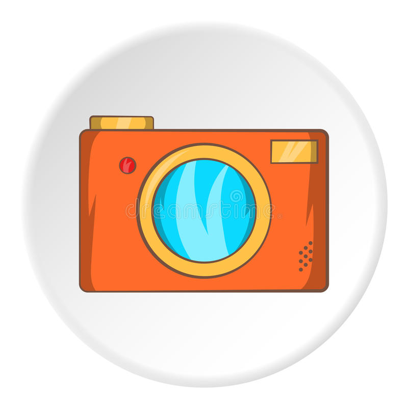 Camera icon, cartoon style stock illustration