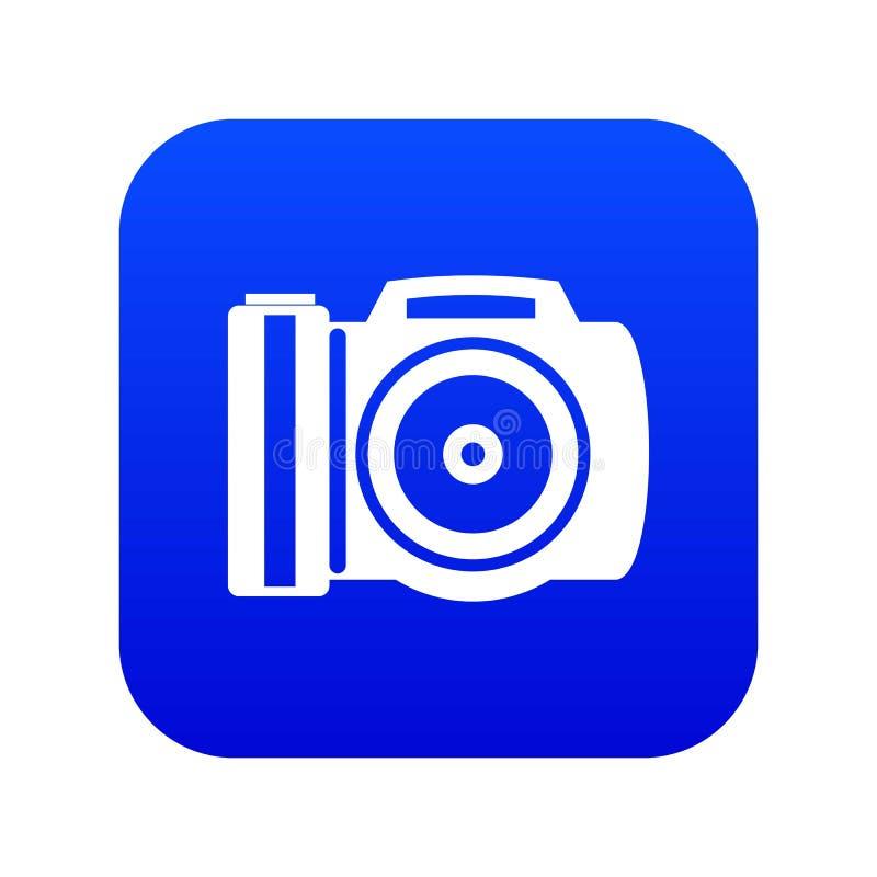 Camera icon digital blue stock illustration