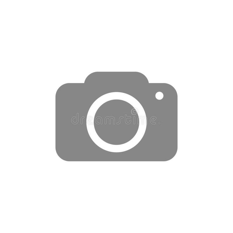 Camera icon. Electronics symbol. Photograph pictogram, flat vector sign isolated on white background. Simple vector stock illustration