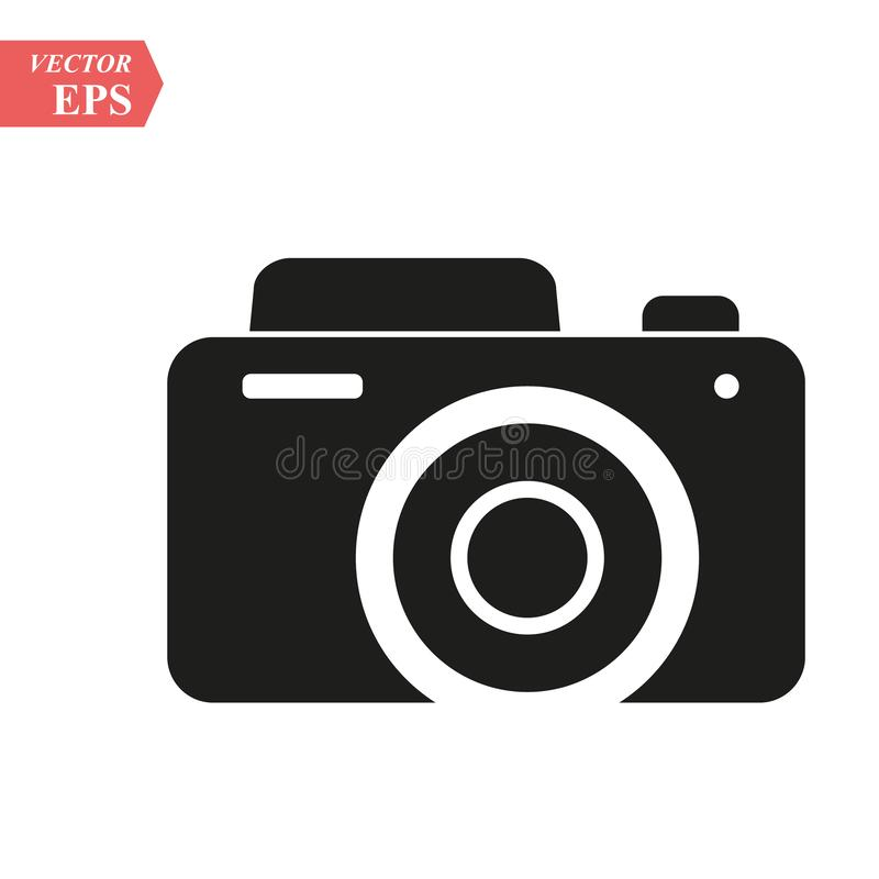 Camera icon, flat photo camera vector isolated. Modern simple snapshot photography sign. Instant Photo internet concept. Trendy sy vector illustration