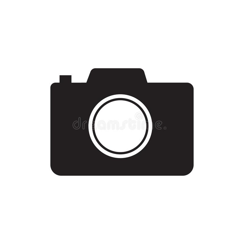 Camera icon, flat photo camera vector isolated. Modern simple snapshot photography sign.  Trendy symbol for website design, web stock illustration