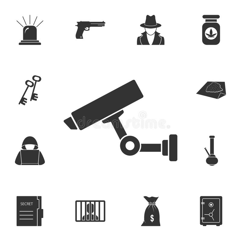 Camera icon. Simple element illustration. Camera symbol design from Crime collection set. Can be used for web and mobile. On white background stock illustration