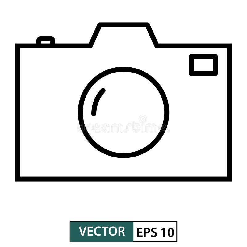 Camera icon, symbol, flat design isolated on white. Vector illustration EPS 10 royalty free illustration