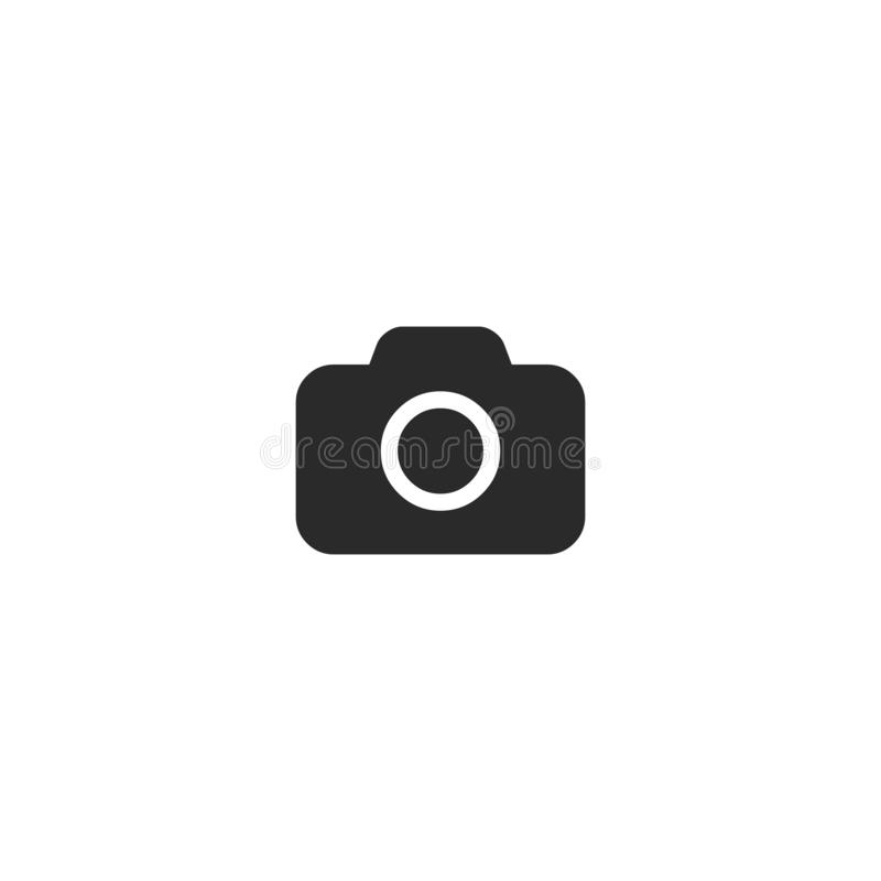 Camera Icon in trendy flat style isolated on grey background. Camera symbol for your web site design, logo, app, UI royalty free illustration
