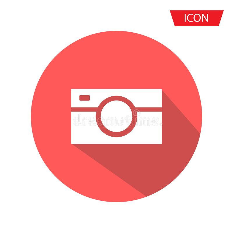 Camera Icon in trendy flat style isolated on background royalty free illustration