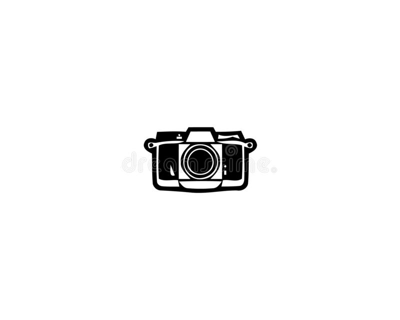 Camera Icon in trendy flat style isolated on white background royalty free illustration